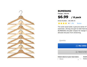 DEAL! WOOD CLOTHING HANGERS over 80 peices like new - $60