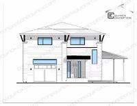 Plan maison / chalet - Technologue