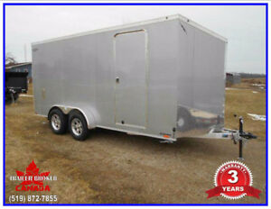 2018  7x16 ALL Aluminum V-Nose Trailer, 3 Year Warranty!