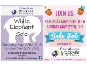 WHITE ELEPHANT SALE & BAKE SALE  by the Friends of the B.P.L.