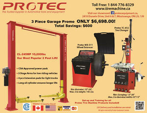 Car Lift & Tire changer & Wheel balancer Promotion
