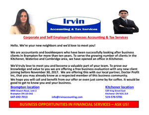Accounting & Tax Services - Invitation and Accepting New Clients