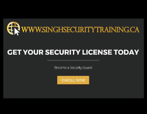 Get Your Security License Today! Training Course for Only $79.95