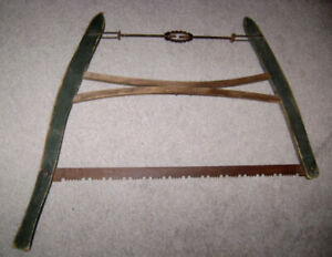 ANTIQUE WOOD SAWS ORIGINAL BLUE - 2