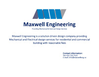 Mechanical and Electrical Design Services - Building Permit