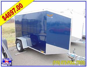 6 x 10 All Aluminum , Wedge Nosed Cargo Trailer, Sloped Top!