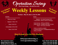 Dance Lessons.  West Coast Swing.  First Lesson Free Program!