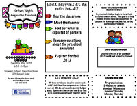 Northend Preschool Open House May 30th