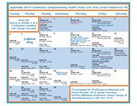 Lokamotion Complementary Health Studio Class/Workshop Schedule