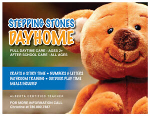 Stepping Stones Dayhome: REGISTERED
