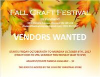 HANDCRAFTED VENDORS WANTED