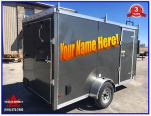 2019 6 x 12 V-Nose Cargo trailer/Contractor trailer FREE Vinyl