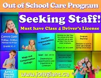 Out of School Care Staff Needed!
