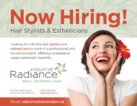 LOOKING FOR HAIRSTYLISTS & ESTHETICIANS