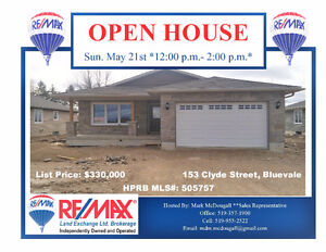 **OPEN HOUSE SUNDAY MAY 21, 2017 - 12:00 - 2:00**