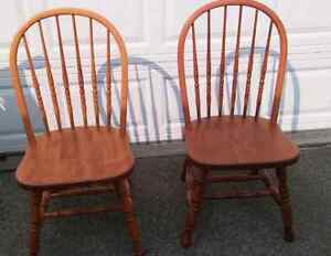 Pair of reaL wood chairs