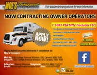 FIXED RATE $1.5082/mile CROSS BORDER FAST OWNER OPERATORS