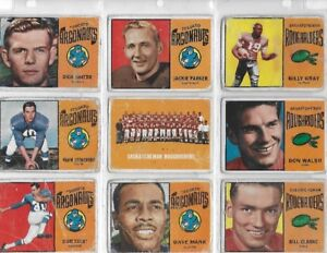 1964 TOPPS CFL FOOTBALL SET EAGLE DAY R/C