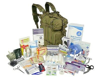 First Aid Medical Supplies Survival Kit Trauma Bag Backpack Emergency Responders