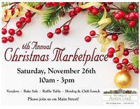 Vendors Needed - Christmas Marketplace at Aspen Lake