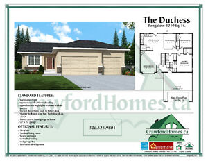Trade your home! New Build Bungalow in Pilot Butte under 360K