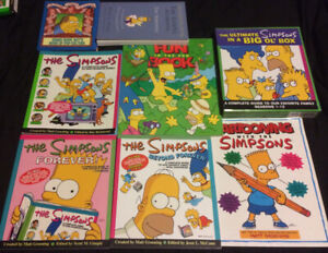 The Simpsons Books Large Lot Of 7