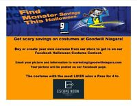 Enter Goodwill Niagara's Halloween Costume Contest!