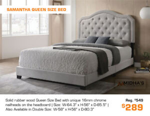 Get a Modern Unique Style Queen Bed Now from $199!