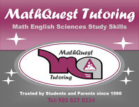 MATH/SCIENCES/ENGLISH AFFORDABLE TUTORS Pickering/Ajax/Whitby