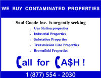 We pay CA$H for Contaminated Properties
