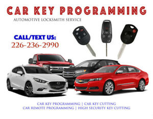 Lost Car Key & Remote Programming - High Security Key Cutting