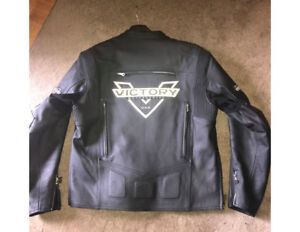 Brand new Victory XL leather motorcycle jacket