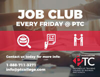 FREE Job Club every Friday at Progressive Training College