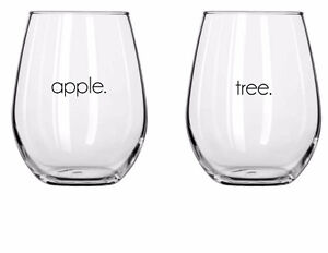Matching Mothers day stemless wine glasses
