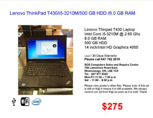 Laptops Lenovo for Sale (Prices .............. $199 to $799)