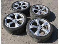 """Corsa 19"""" Chrome Alloys 5x120 VGC Tyres Vauxhall Vivaro Insignia VW Transporter Fiat Ducato BMW"""