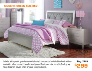 Now from $199 Get a Modern Unique Style Queen Bed!