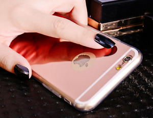 i PHONE BACK SILICON MIRROR FACE COVER