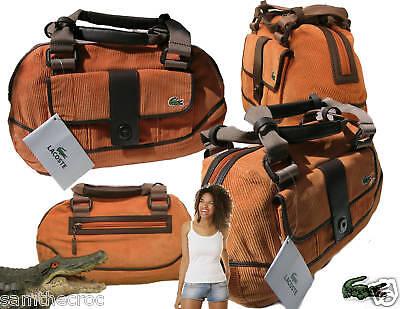 Lacoste Damen Bowlingtasche Handtasche Mode 5 Tief Orange