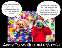 The Essential Every Day at Jolly Giant Childcare