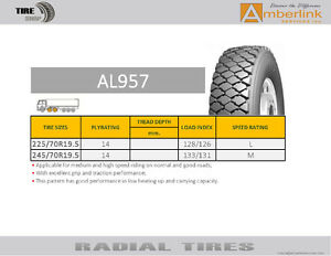 New truck tires 70R19.5 /M+S/DOT