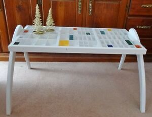 ALL WOOD PRINTERS DRAWER COFFEE TABLE