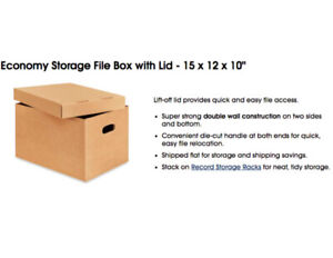 600 File Boxes For Sale