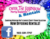 Over The Rainbow Party Supplies & Rentals