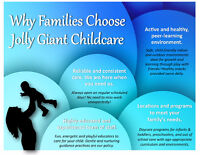 Why families are choosing Jolly Giant Childcare!