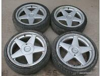"""Set of genuine Azev A 17"""" Alloy Wheels 4x100 Corsa Nova Golf Polo Mazda MX5 BMW E30 Rover 25"""