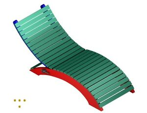 DIY chaise lounge recliner FREE to scale print plans