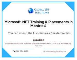Microsoft.NET Training and Placements in Montreal