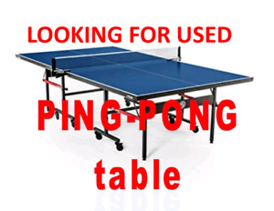 Looking for ping pong table