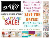 Stampin' UP! Craft Supply Garage Sale